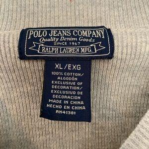 Men's polo cotton v-neck sweater